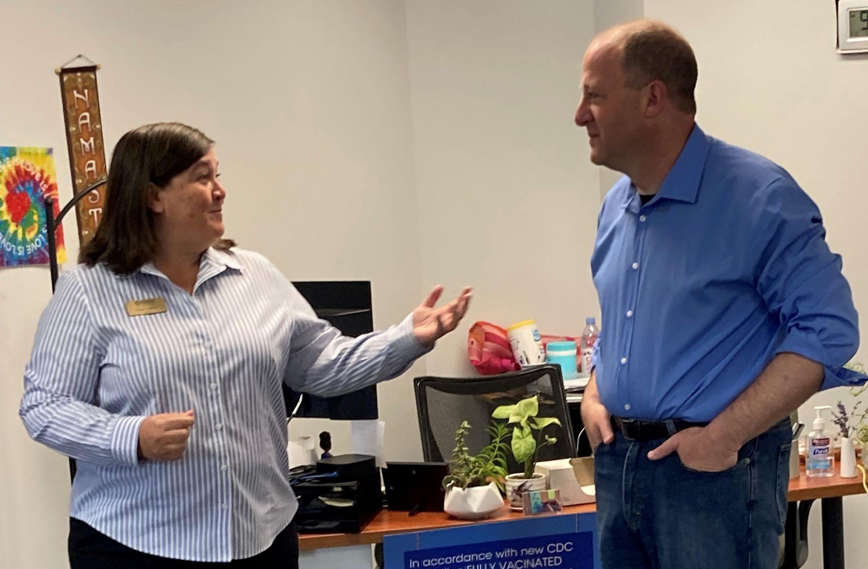 Gov. Polis Visits Mental Health Partners' #BoulderStrong Resource Center